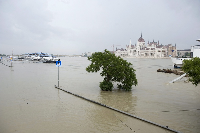 Árvíz - Árad a Duna Budapestnél