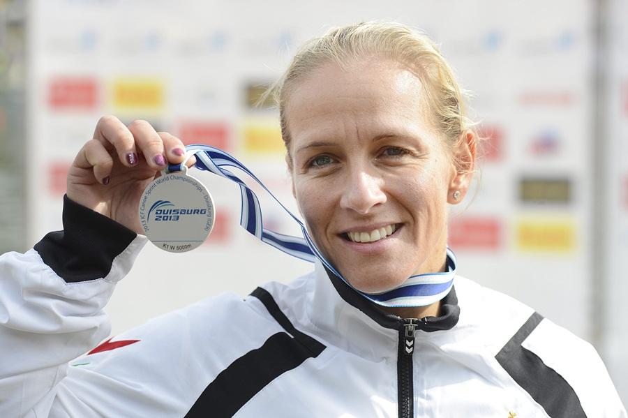 Kajak-kenu vb - Csay Renáta ezüstérmes K-1 5000 méteren