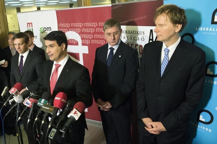 Szabó Tímea; Bajnai Gordon; Mesterházy Attila; Gyurcsány Ferenc; Fodor Gábor