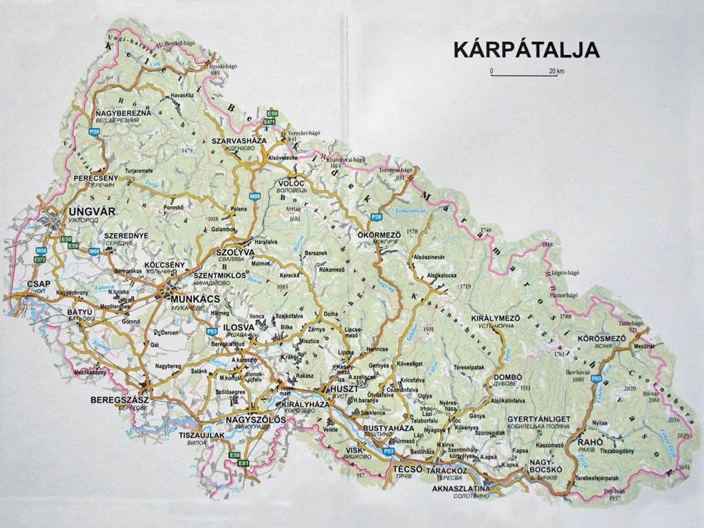 Karpatalja_terkep