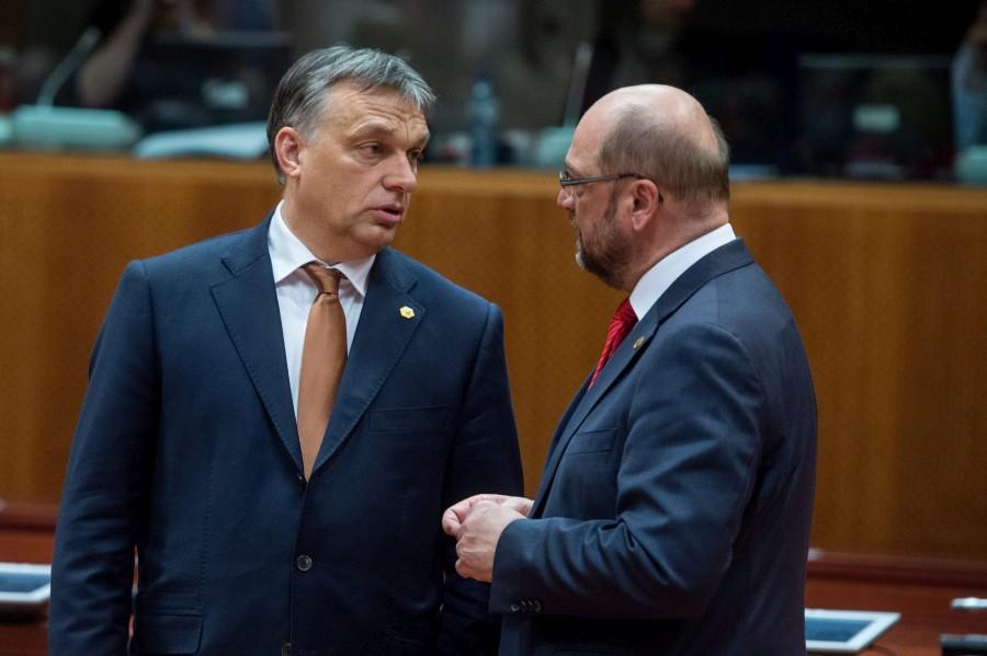 SCHULZ, Martin; Orbán Viktor