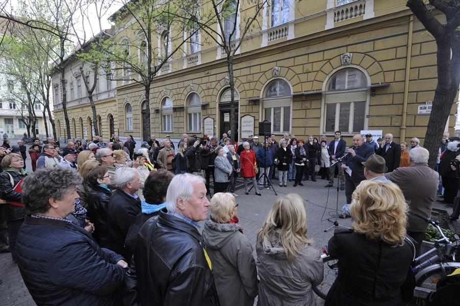"""Tüntetés """"a korrupció kormánya ellen"""" - Szeged"""