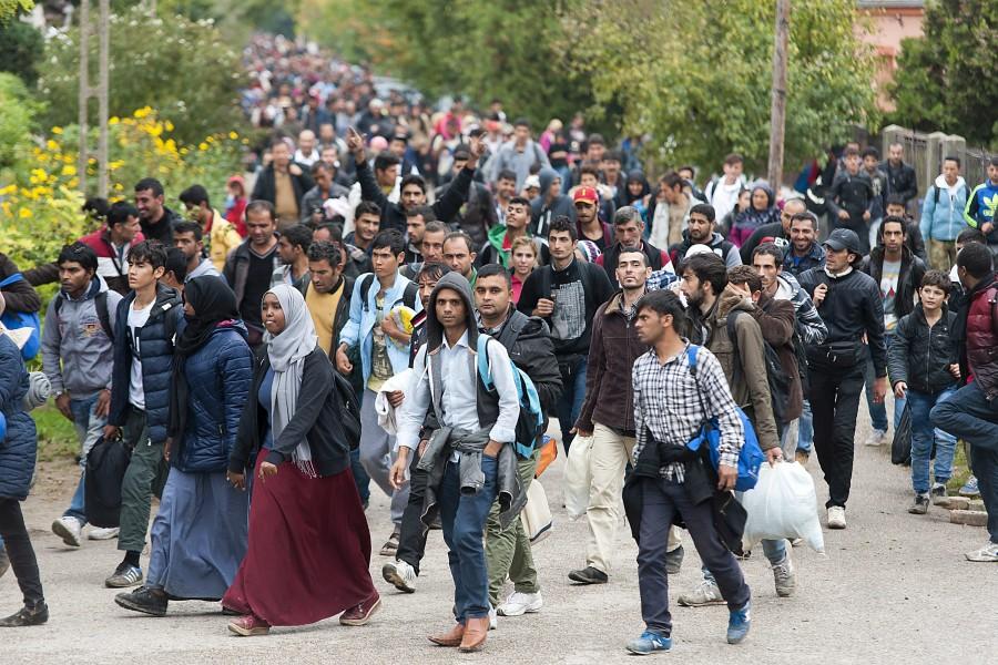 Illegális bevándorlás - Migránsok Hegyeshalomnál