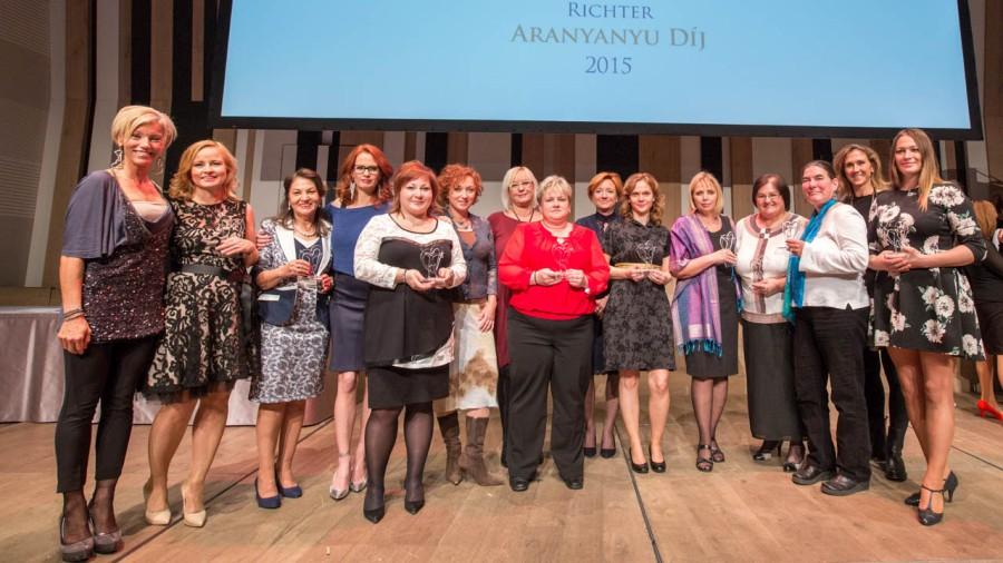 A 2015-ös Richter Aranyanyu Díj díjazottjai és a zsűritagok