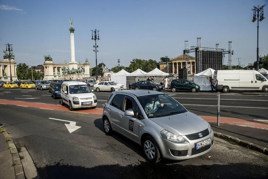 Uber - Az utolsó kör - Demonstráció Budapesten