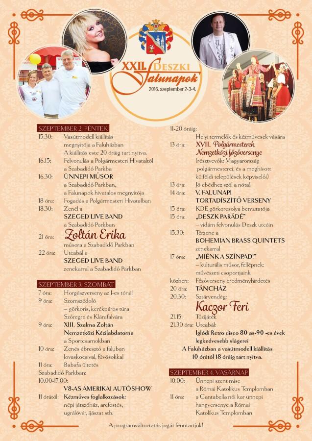 XXII. Deszki Falunapok_program_e-poster