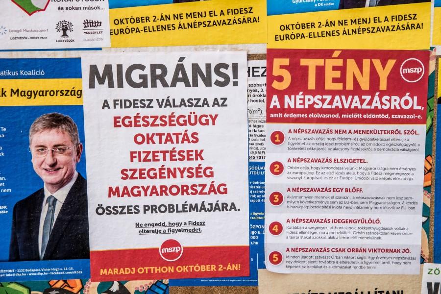 Kvótareferendum - Plakátok Budapesten
