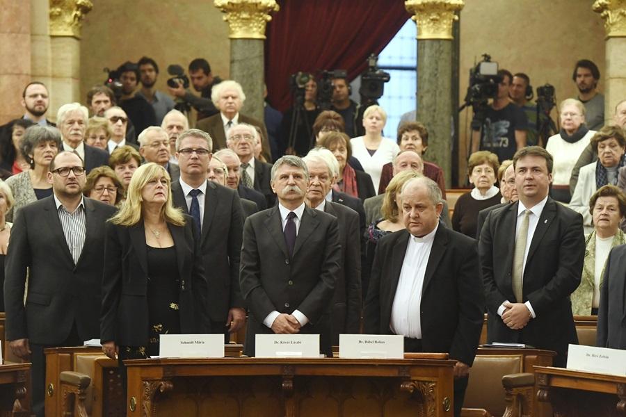 Kövér László; Schmidt Mária; Bábel Balázs