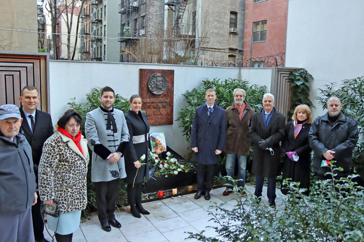 Emléktáblát avattak Karády Katalin tiszteletére New Yorkban